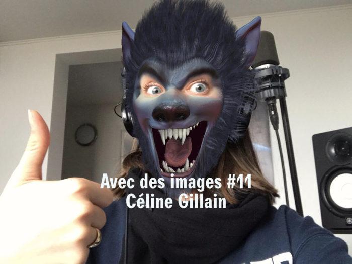 Céline Gillain dans le podcast avec des images